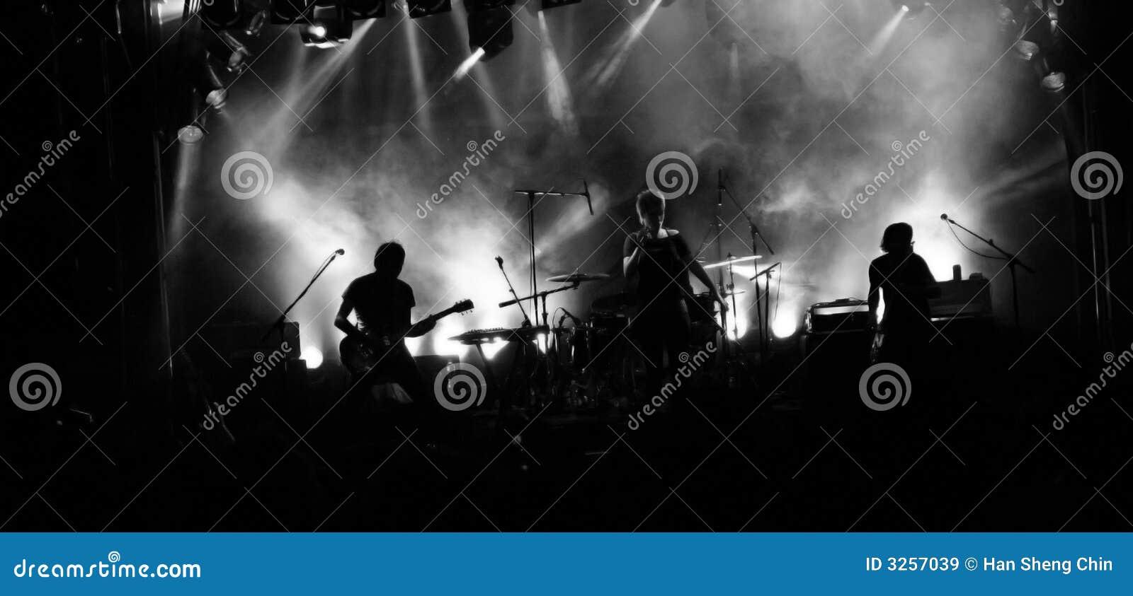 Siluetta della banda rock
