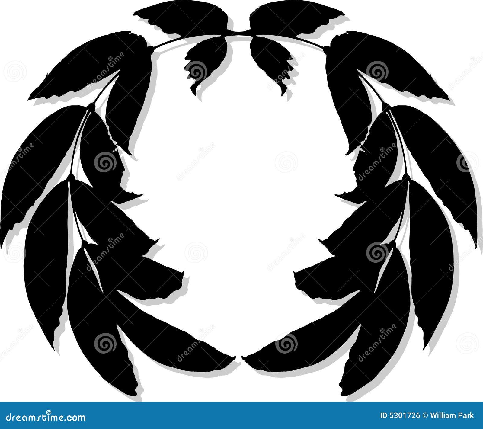 Download Siluetta della corona illustrazione vettoriale. Illustrazione di oliva - 5301726