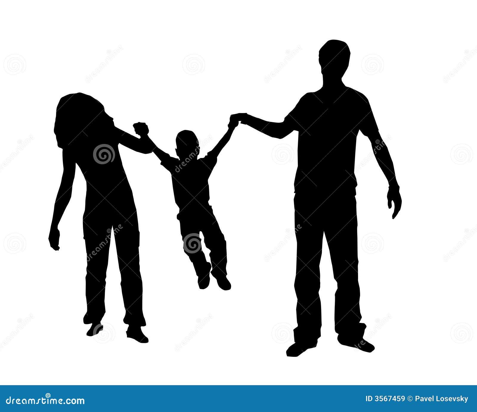 Siluetta della famiglia