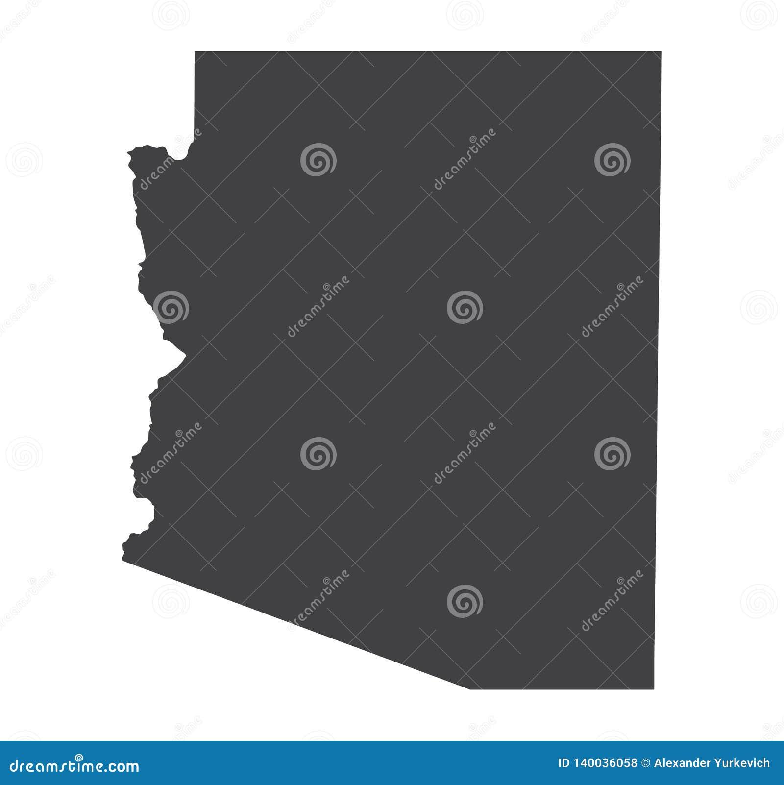 Siluetta della mappa dell Arizona di vettore