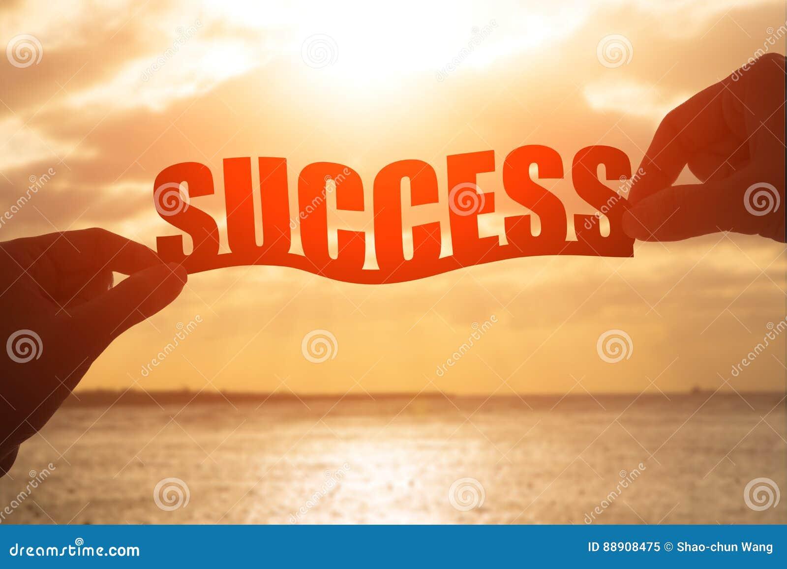Siluetta della parola di successo