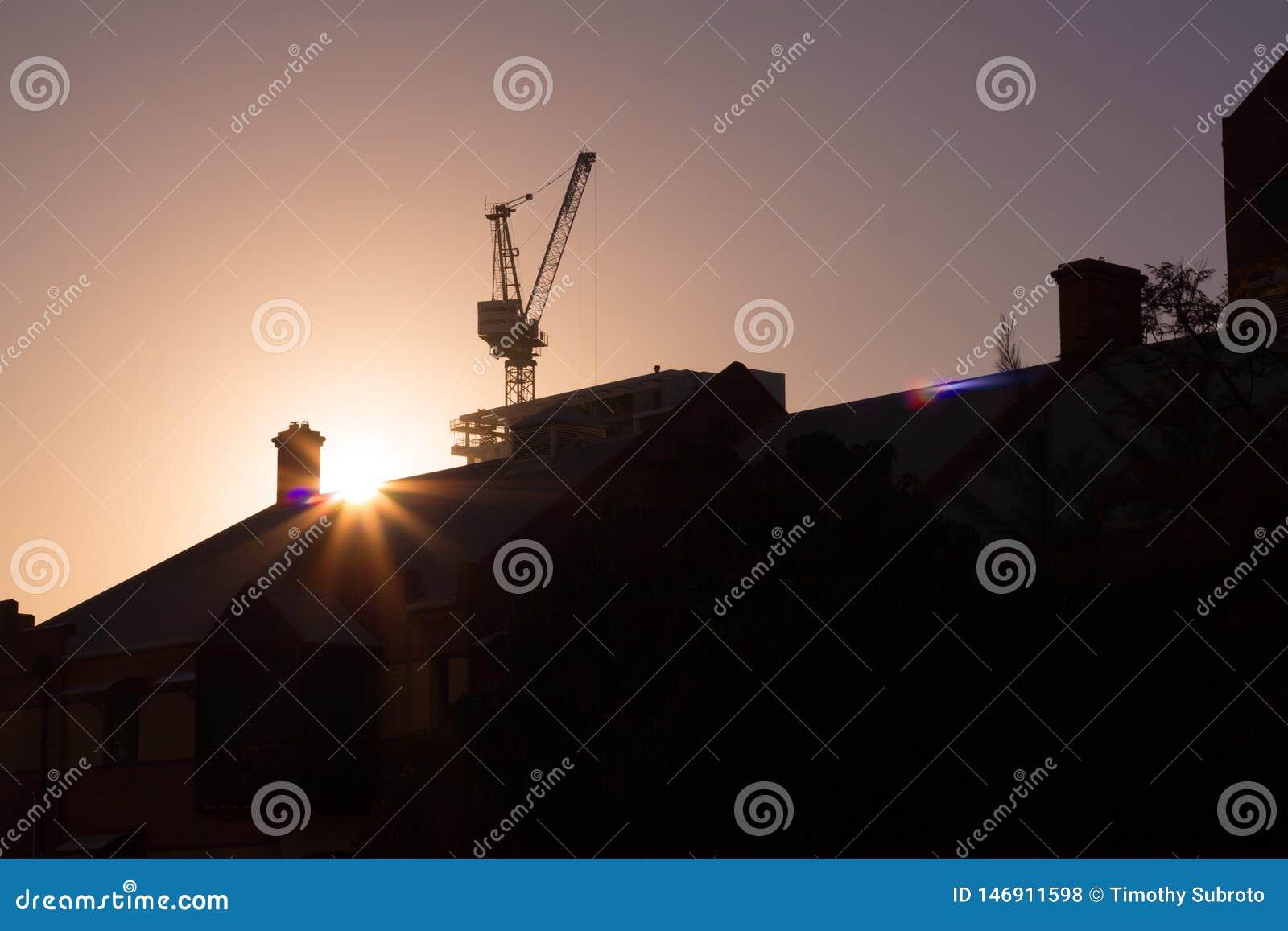 Siluetta di alba della città di Perth