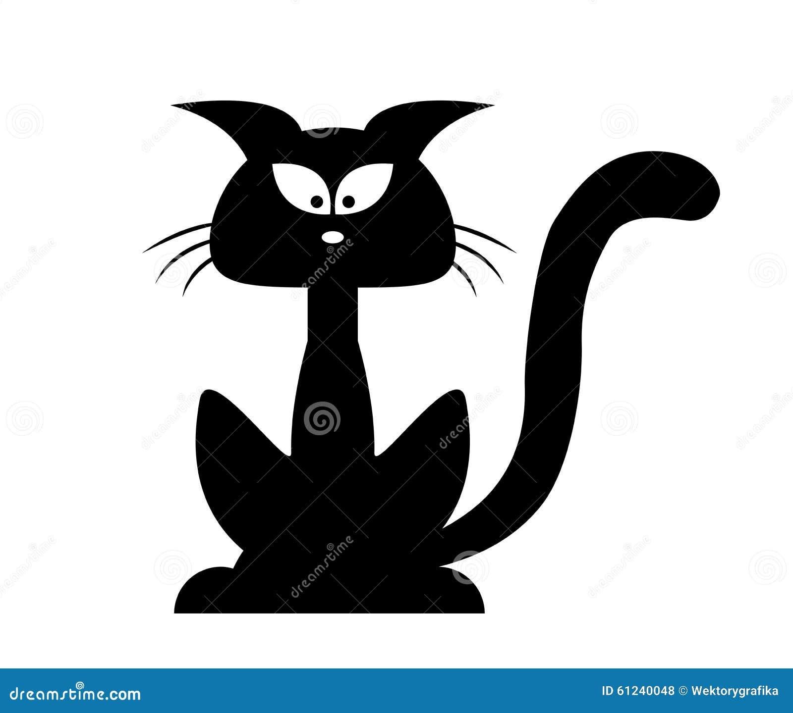 Siluetta di vettore del gatto nero di halloween for Gatto clipart