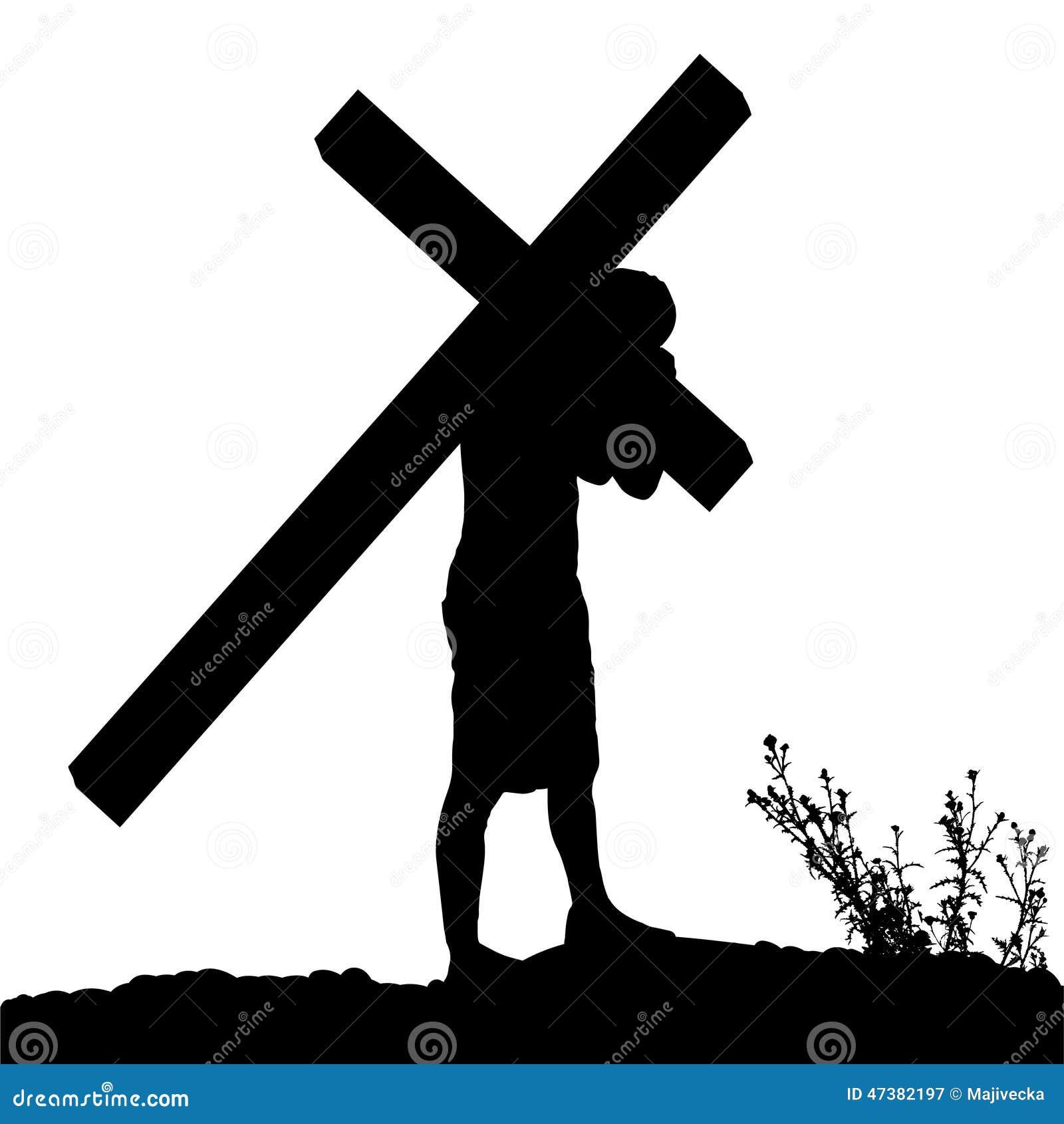 Siluetta di vettore di Gesù