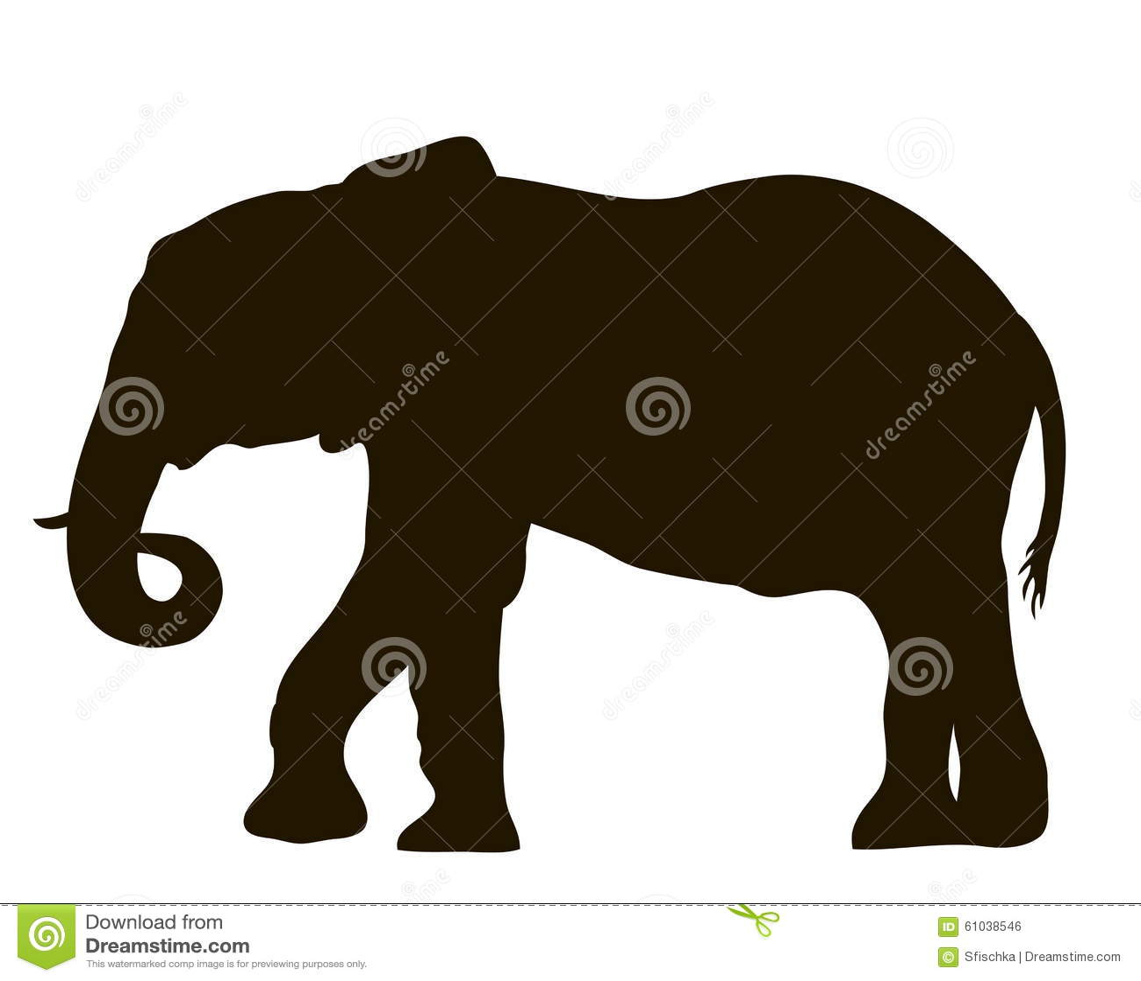 Siluetta di vettore di un muoversi dell 39 elefante - Elefante foglio di colore dell elefante ...