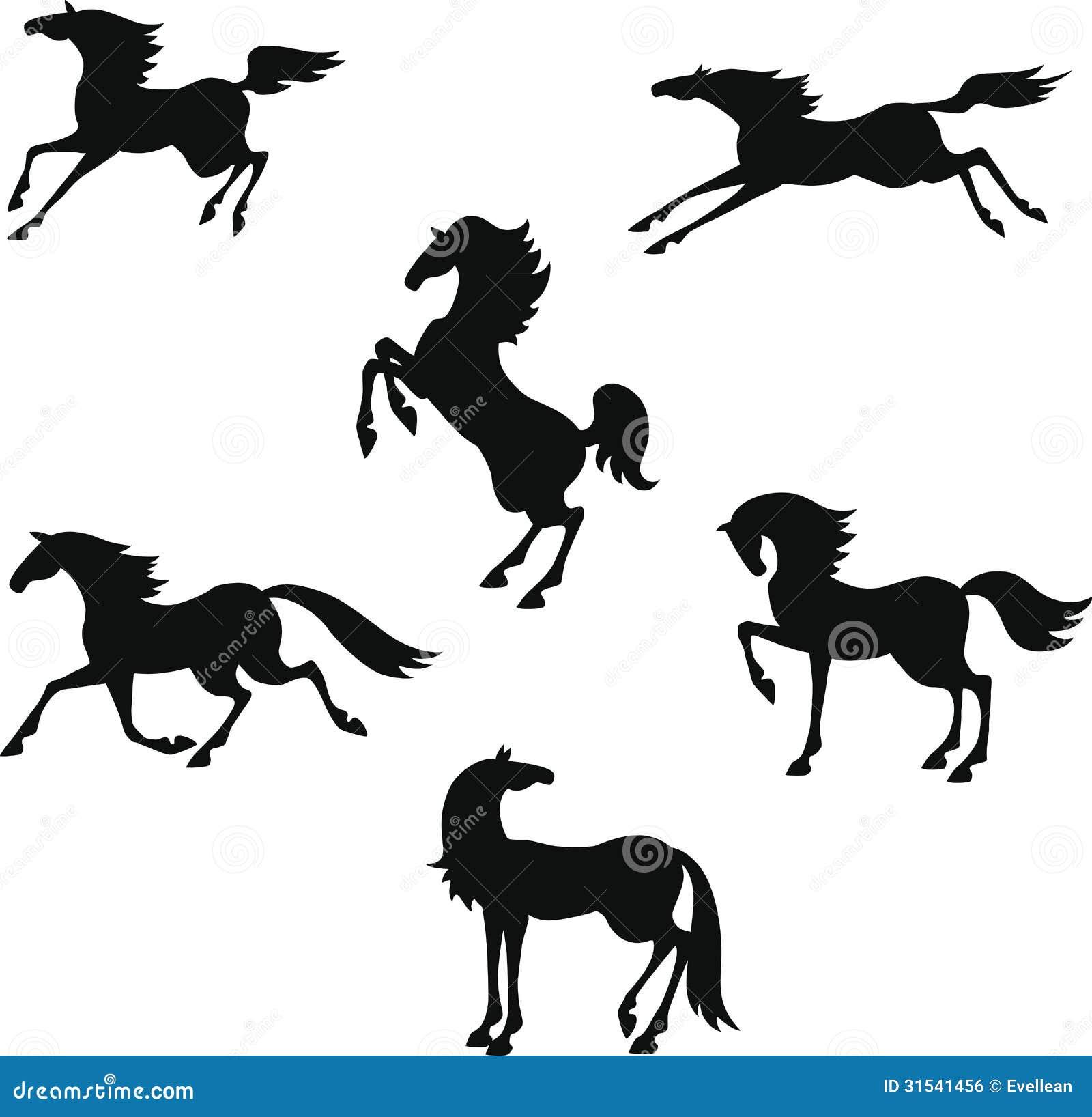Siluetta stilizzata dei cavalli immagine stock libera da for Immagini cavalli stilizzati