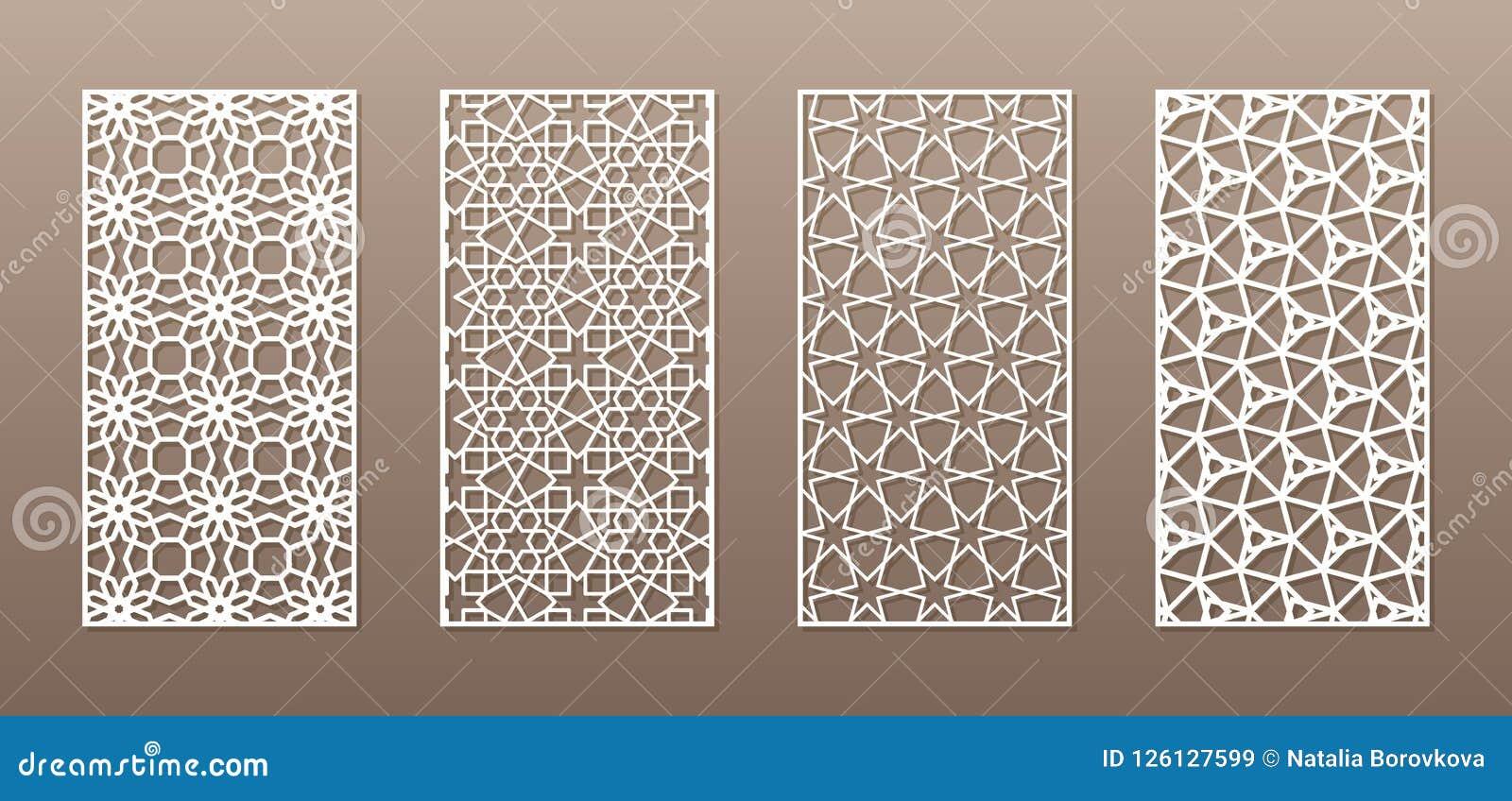 Siluetta trasparente con il modello arabo, modello geometrico del girih musulmano Disegno adatto a fondo, invito