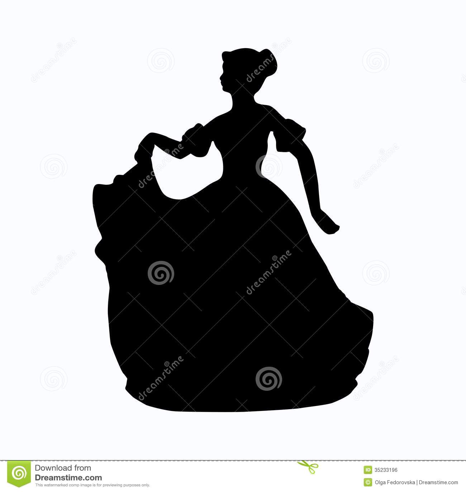 Siluetta vittoriana d annata di signora