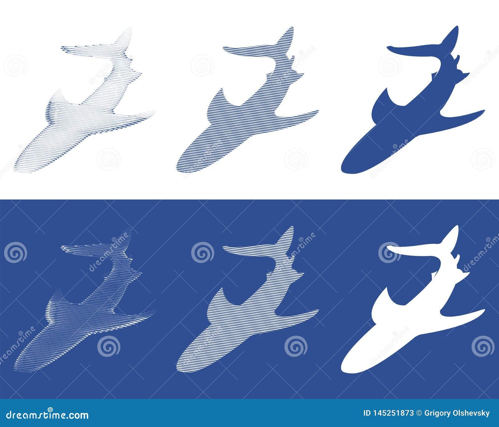 Siluette degli squali