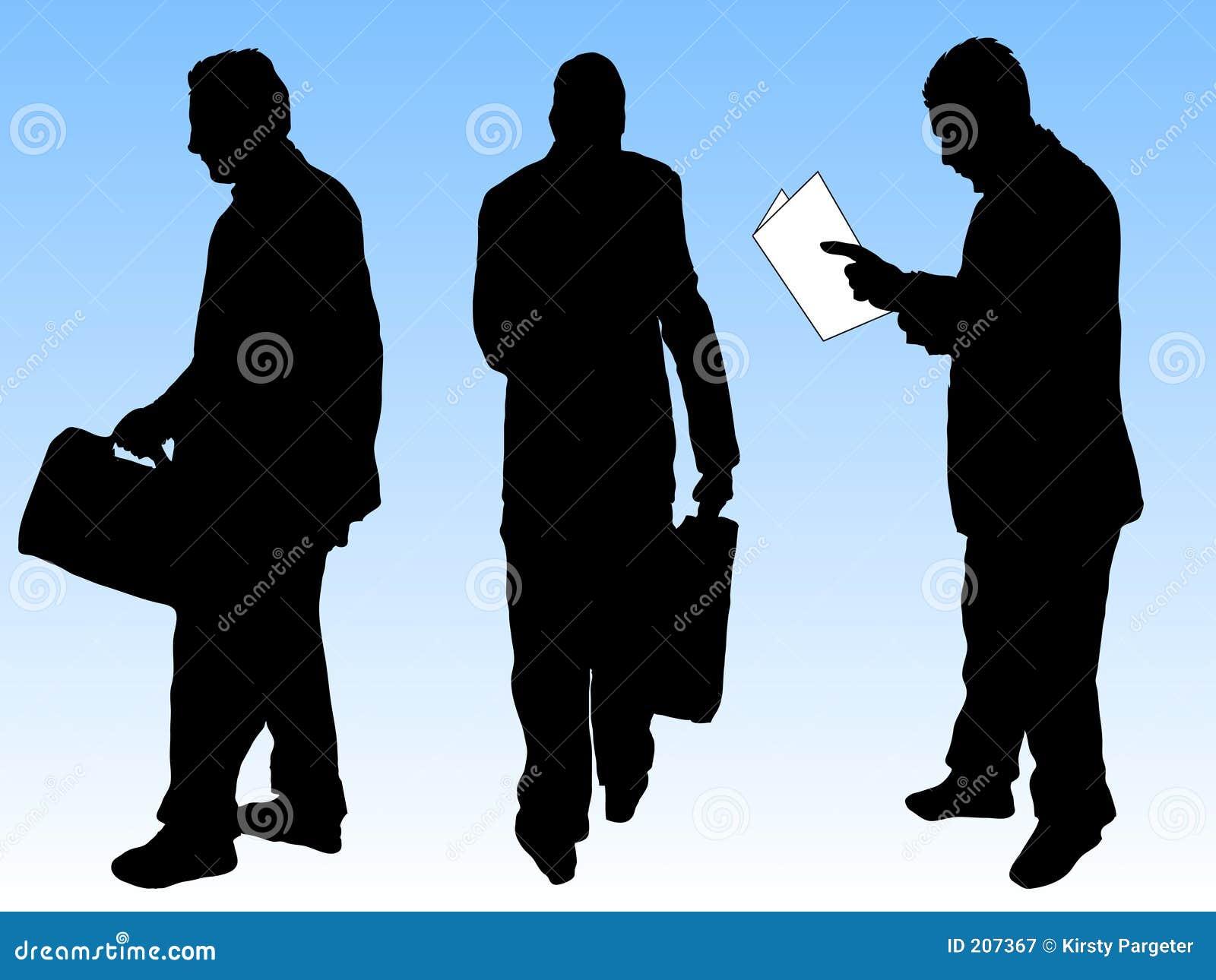 Siluette degli uomini d affari
