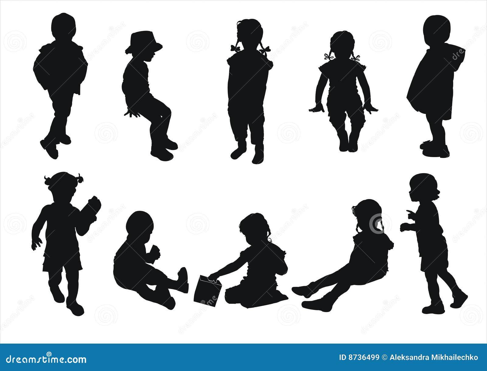 Siluette dei bambini