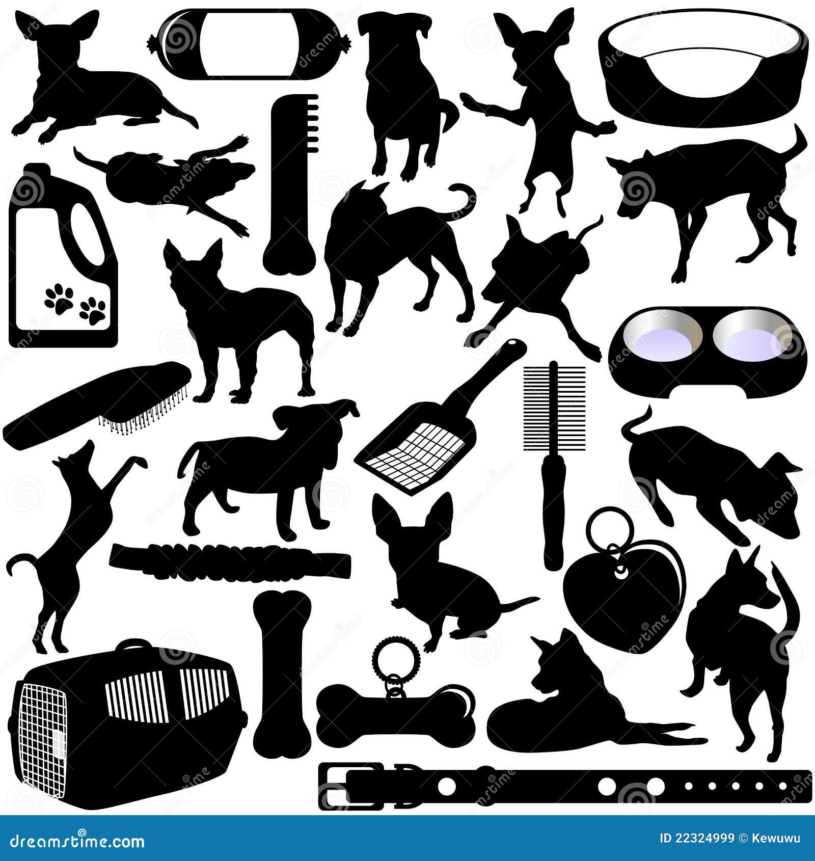 Siluette dei cani, cuccioli