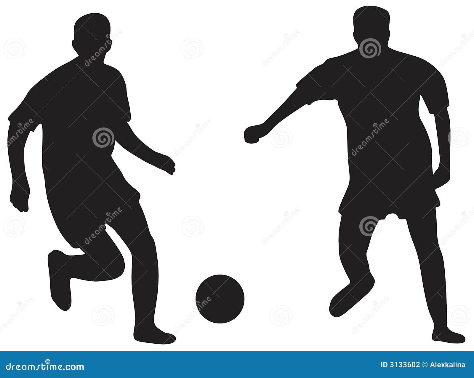 Siluette di gioco del calcio