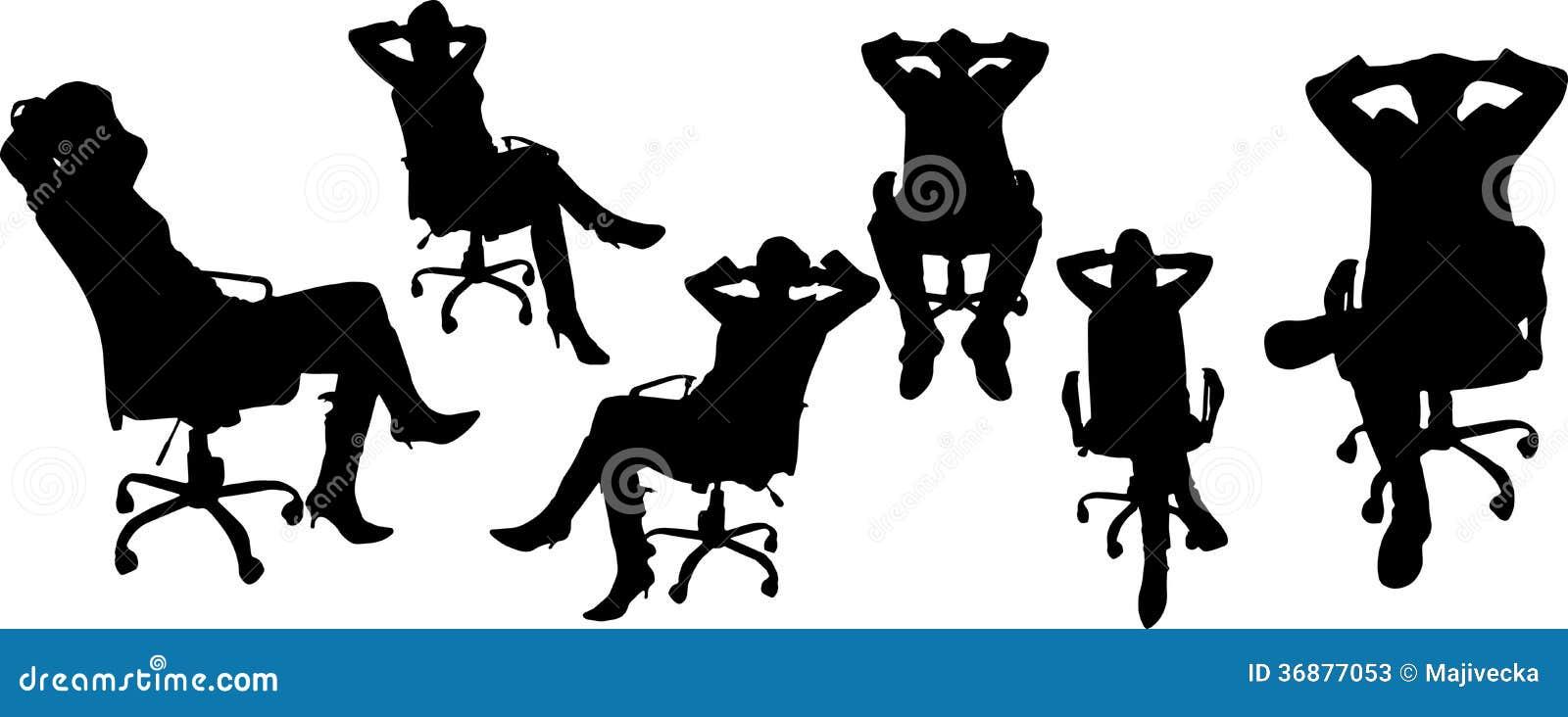 Download Siluette Di Vettore Delle Persone Di Affari Illustrazione Vettoriale - Illustrazione di mani, icona: 36877053