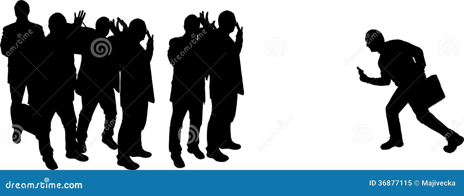 Download Siluette Di Vettore Delle Persone Di Affari Illustrazione Vettoriale - Illustrazione di riunione, persona: 36877115