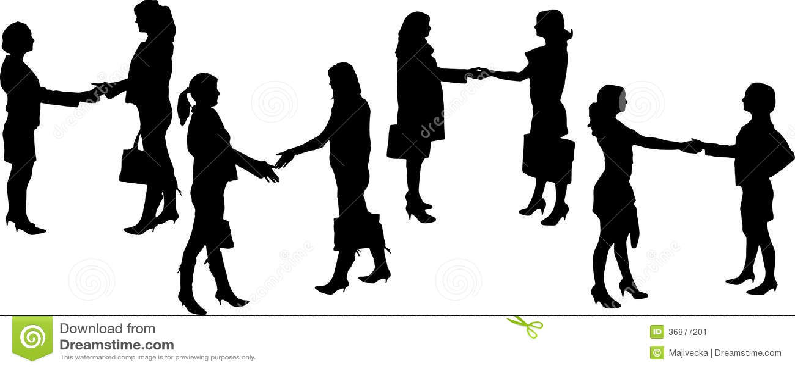 Download Siluette Di Vettore Delle Persone Di Affari Illustrazione Vettoriale - Illustrazione di concorrenza, associazione: 36877201