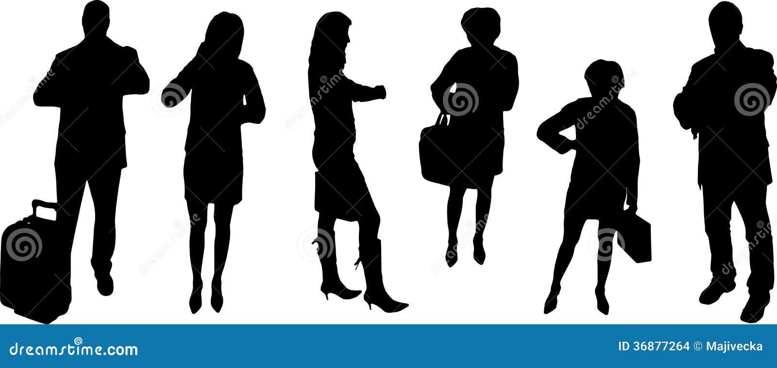 Download Siluette Di Vettore Delle Persone Di Affari Illustrazione Vettoriale - Illustrazione di ufficio, businessman: 36877264
