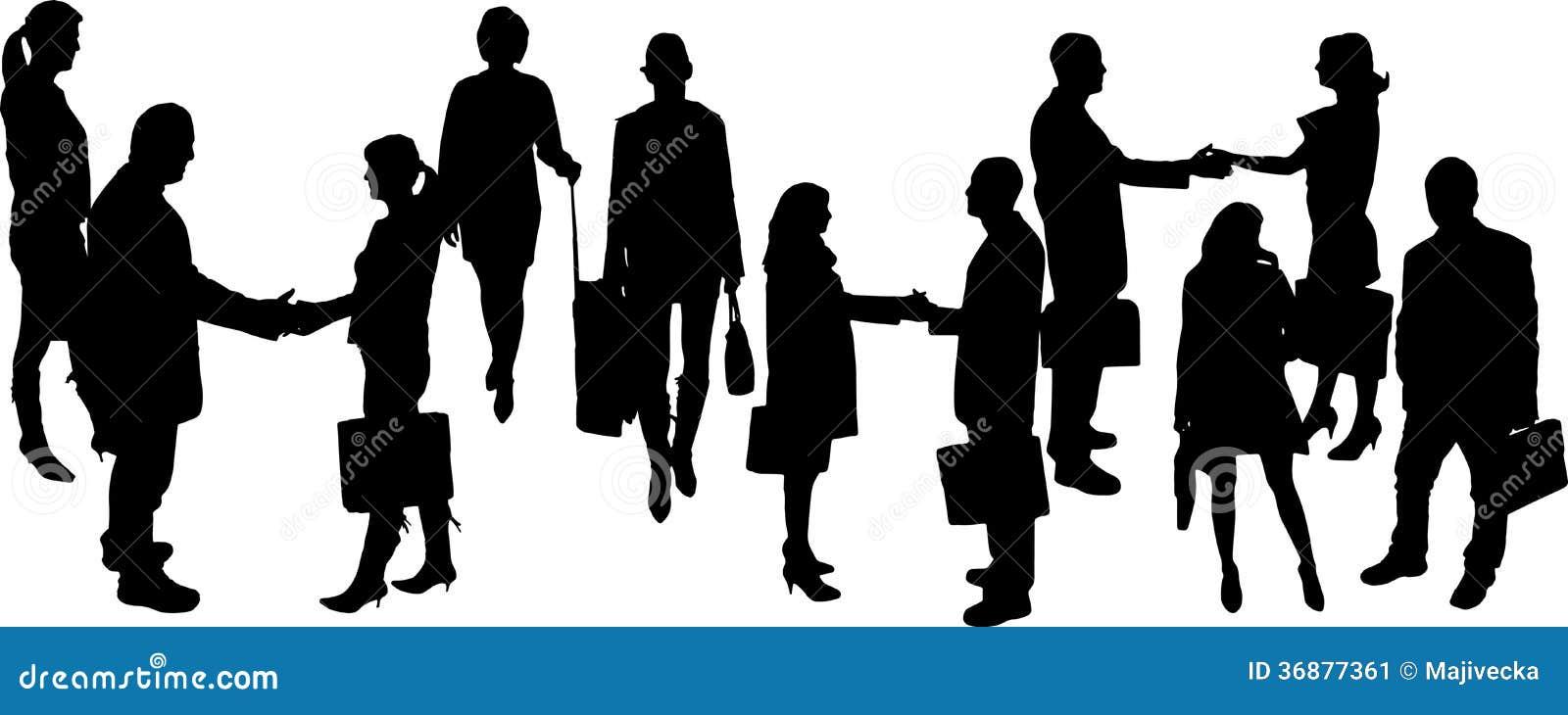Download Siluette Di Vettore Delle Persone Di Affari Illustrazione Vettoriale - Illustrazione di uomo, amicizia: 36877361