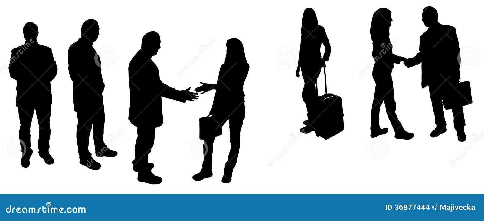 Download Siluette Di Vettore Delle Persone Di Affari Illustrazione Vettoriale - Illustrazione di concorrenza, bellezza: 36877444