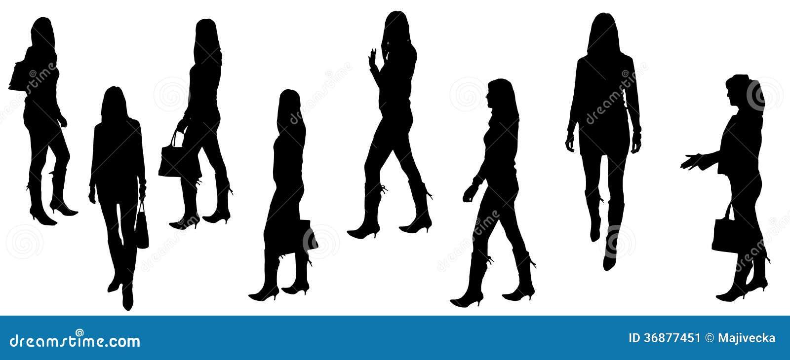 Download Siluette Di Vettore Delle Persone Di Affari Illustrazione Vettoriale - Illustrazione di riunione, moderno: 36877451