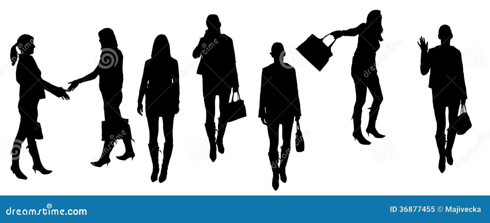 Download Siluette Di Vettore Delle Persone Di Affari Illustrazione Vettoriale - Illustrazione di nero, maschio: 36877455