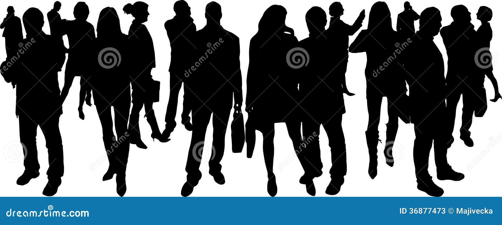 Download Siluette Di Vettore Delle Persone Di Affari Illustrazione Vettoriale - Illustrazione di businessman, nero: 36877473