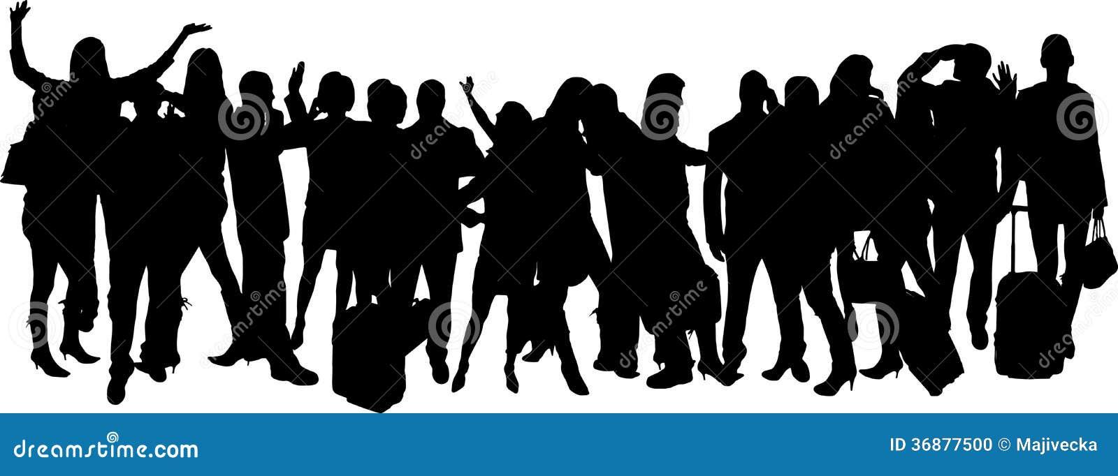 Download Siluette Di Vettore Delle Persone Di Affari Illustrazione Vettoriale - Illustrazione di lavoro, nero: 36877500