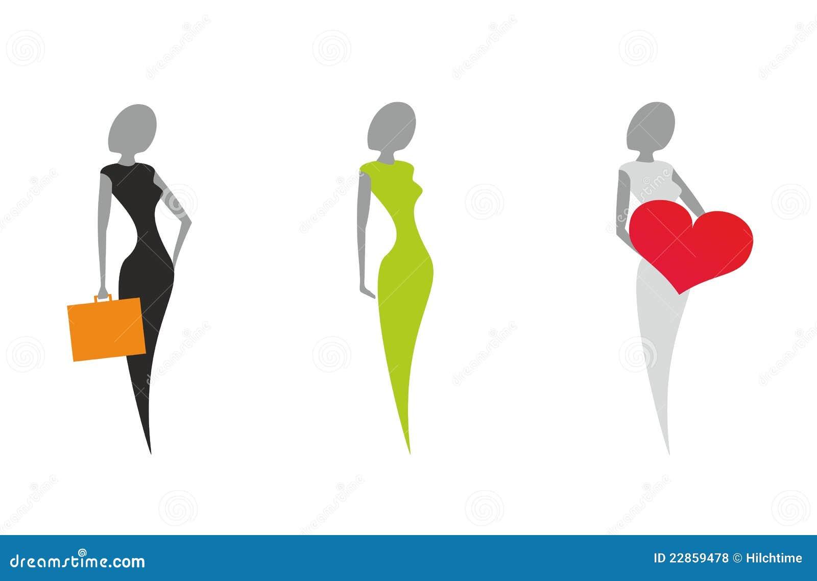 Favoloso Donne stilizzate foto stock - Iscriviti Gratis WI28