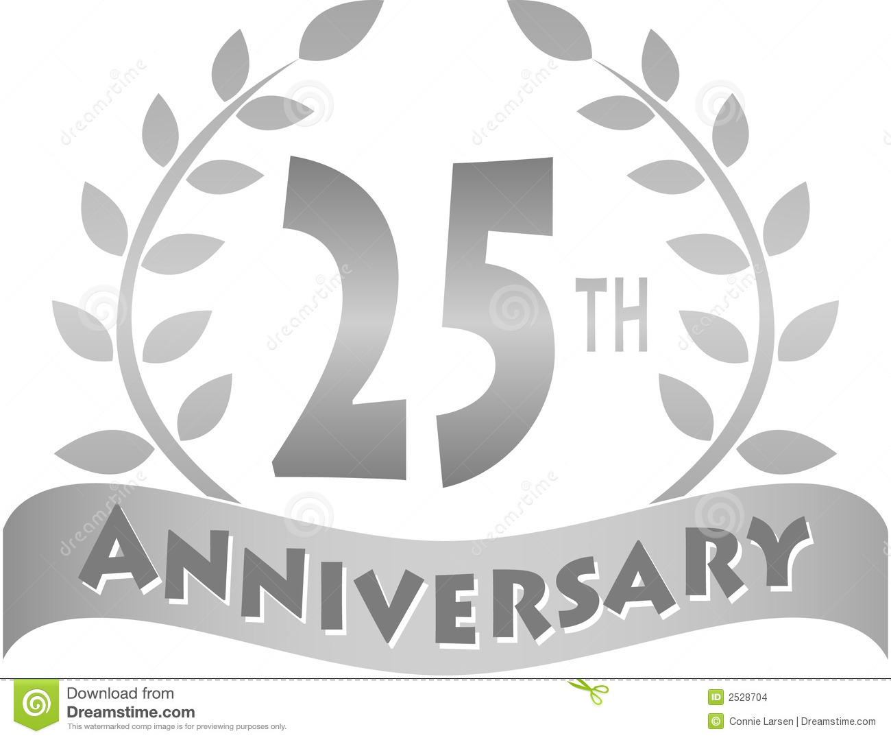 Silver Anniversary Bannereps Stock Vector Illustration Of