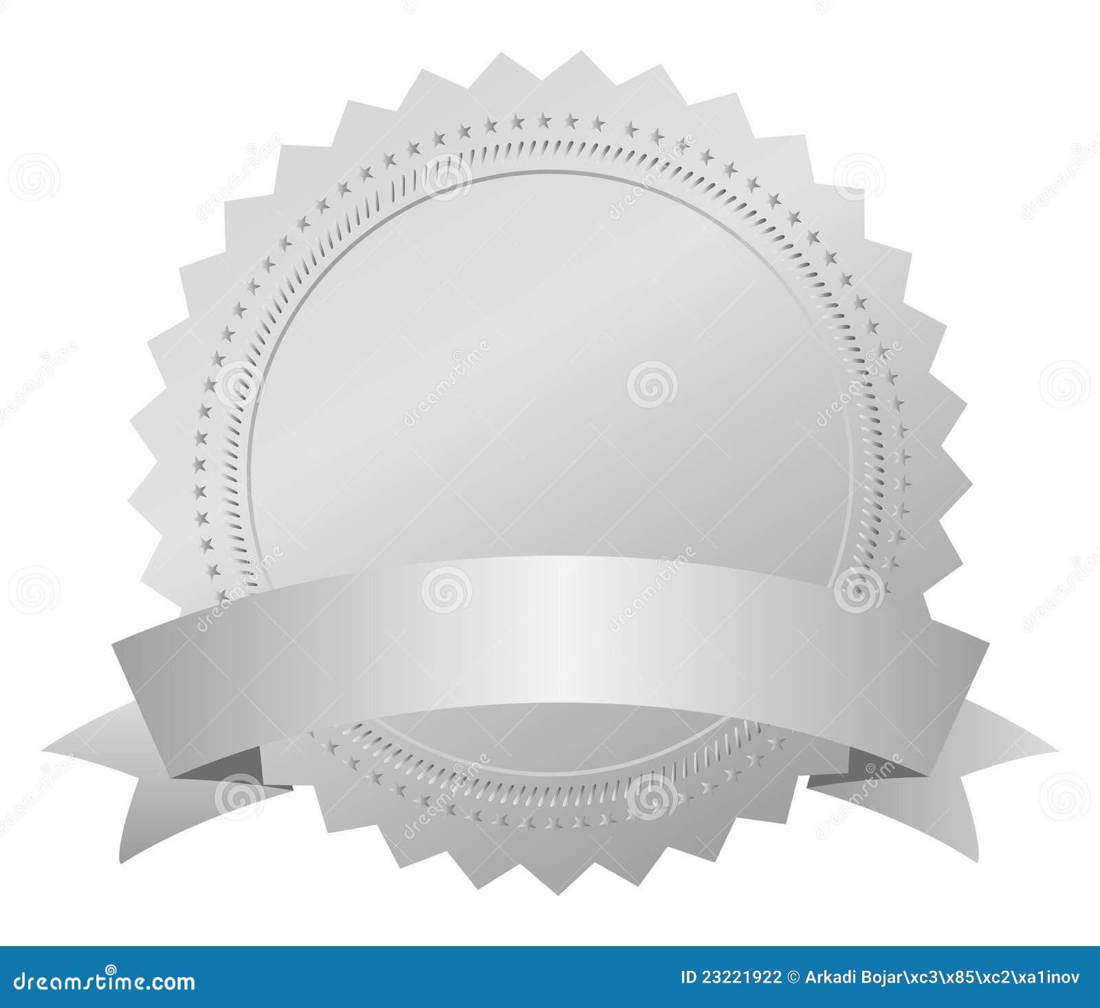 silver award medal stock vector  image of banner  best