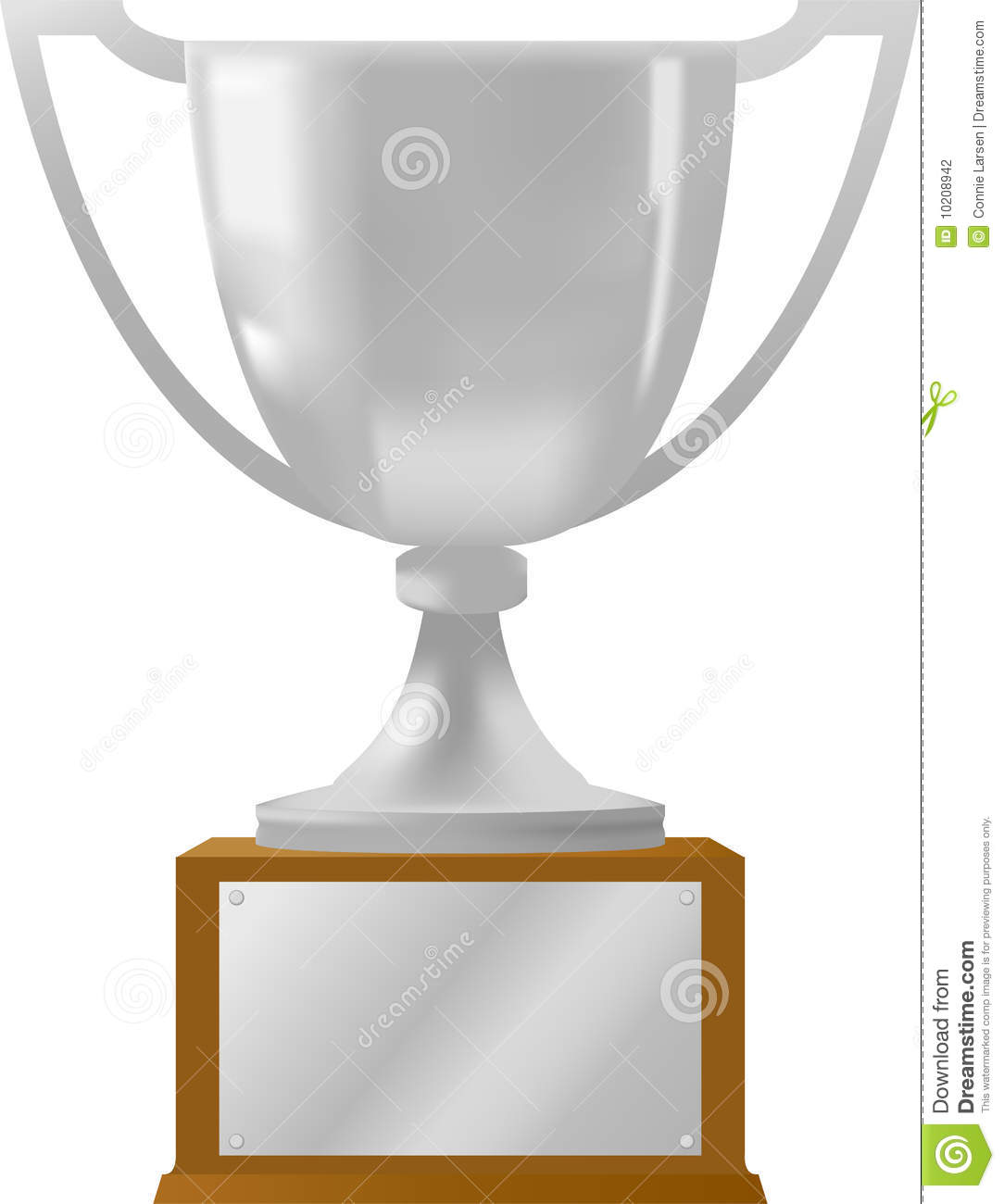 Silver Award Trophy Ai Stock Vector Illustration Of Metal