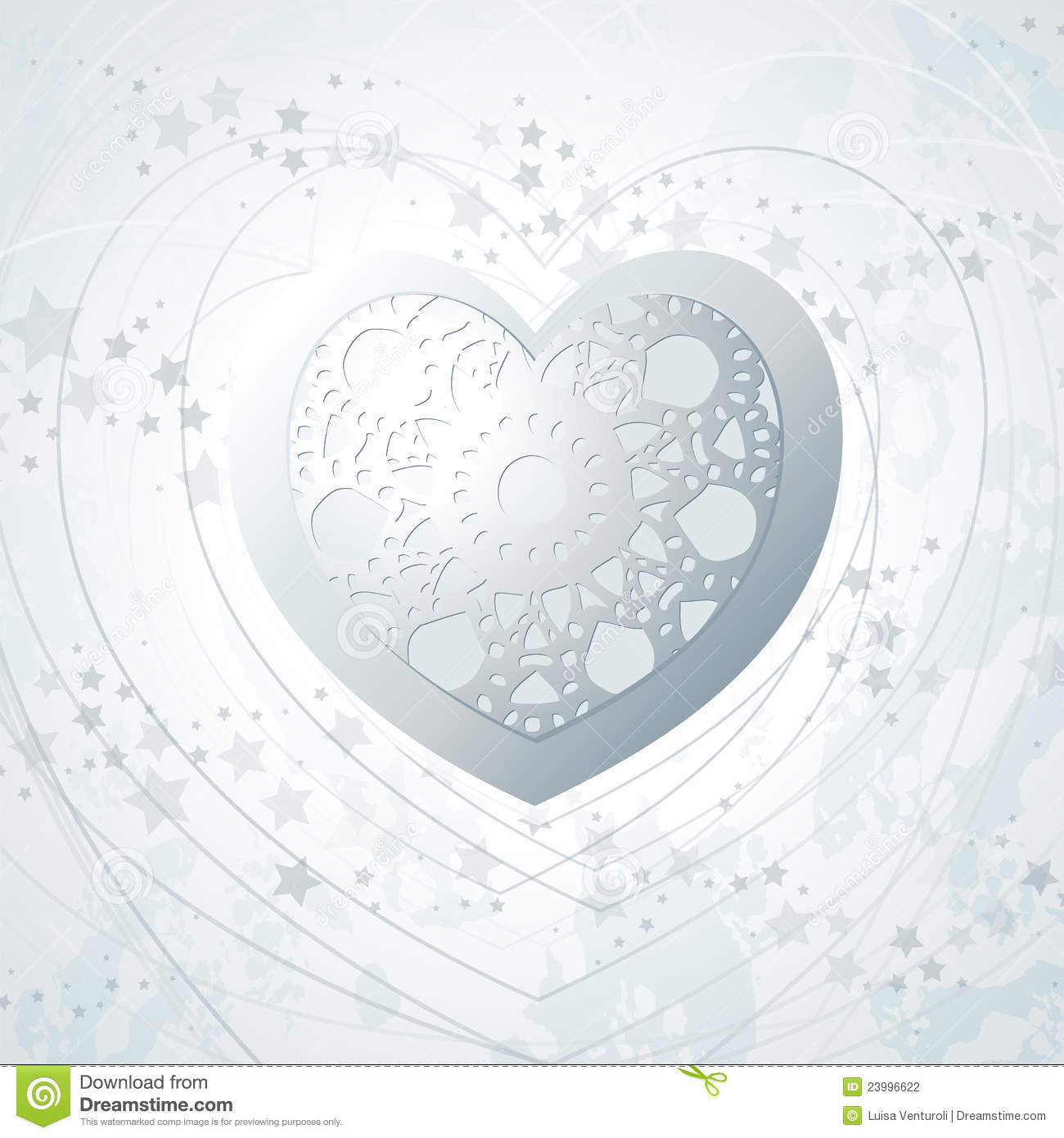 silver background with heart stock vector image 23996622