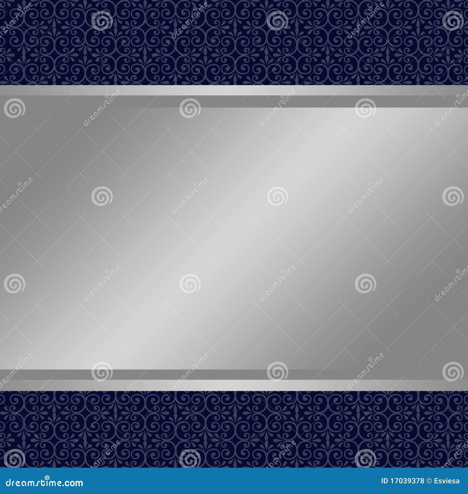Silver Banner On Blue Background Stock Illustration ...