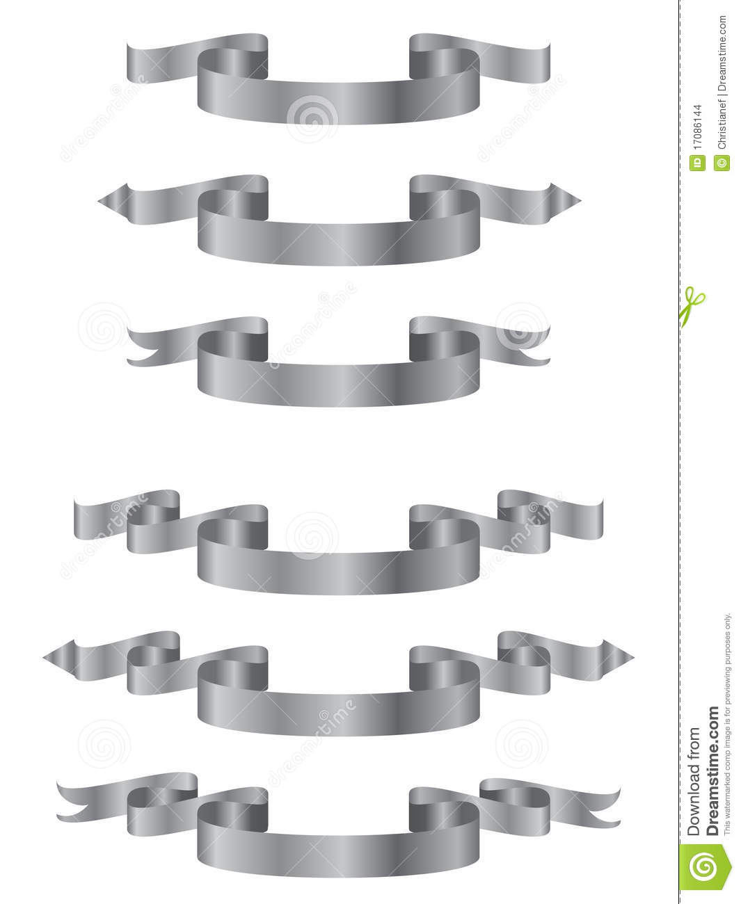 Silver Banners Stock Images - Image: 17086144