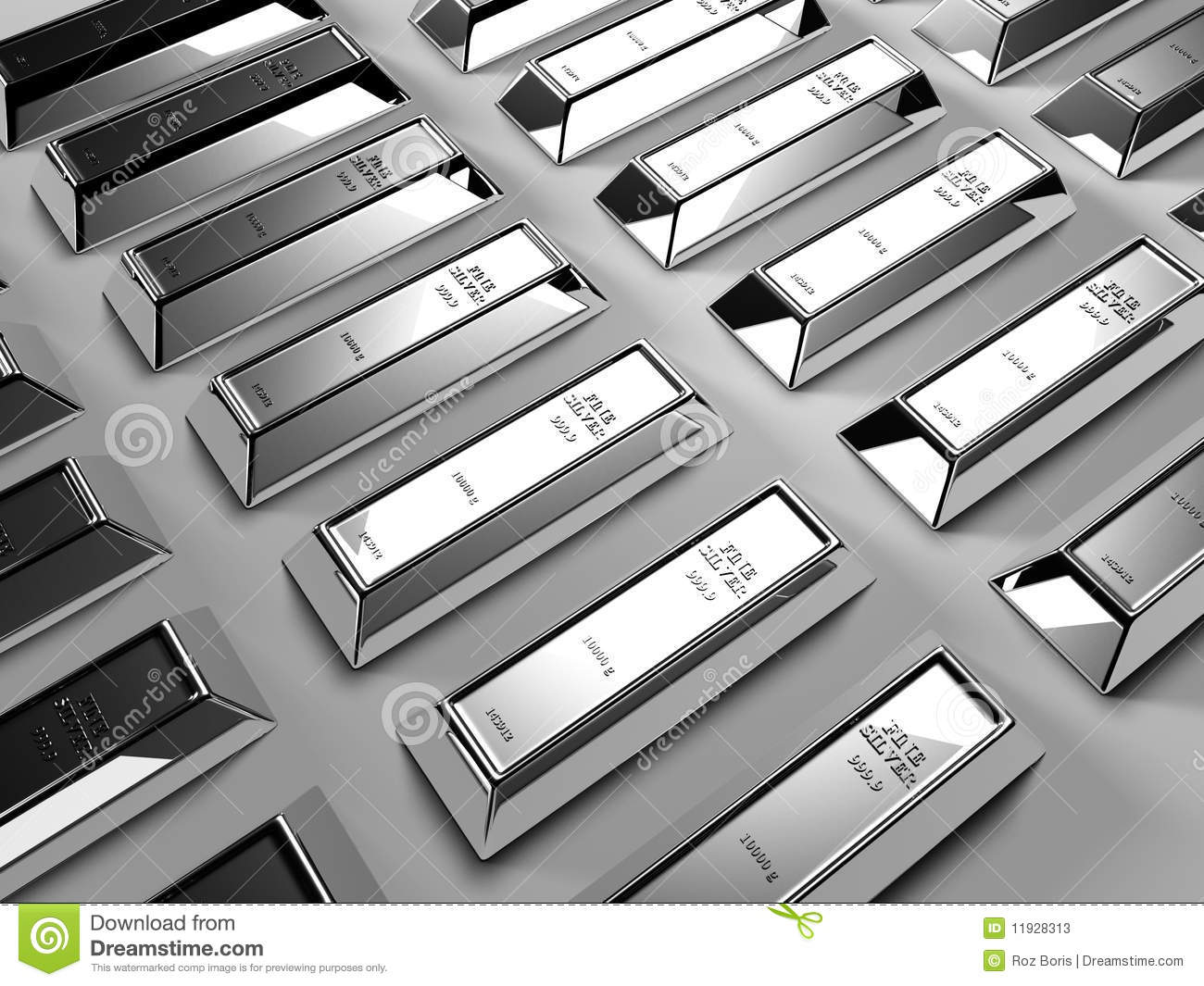 Silver Bars Stock Photos Image 11928313