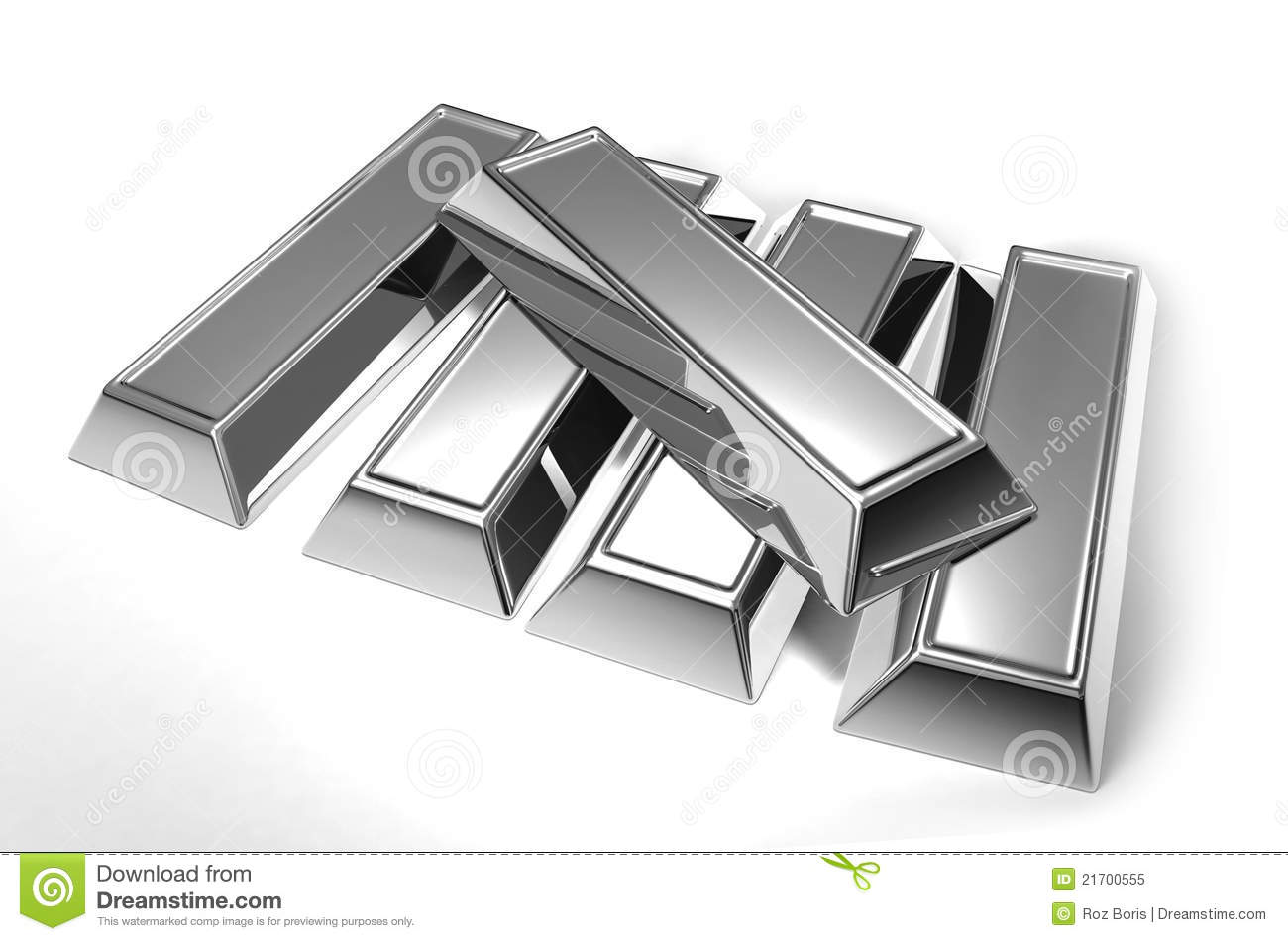 Silver Bars Royalty Free Stock Photo - Image: 21700555