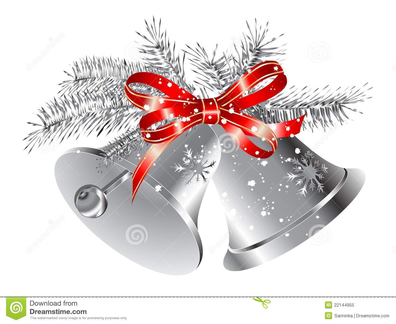 Silver Bells Clip Art Silver bells royalty free