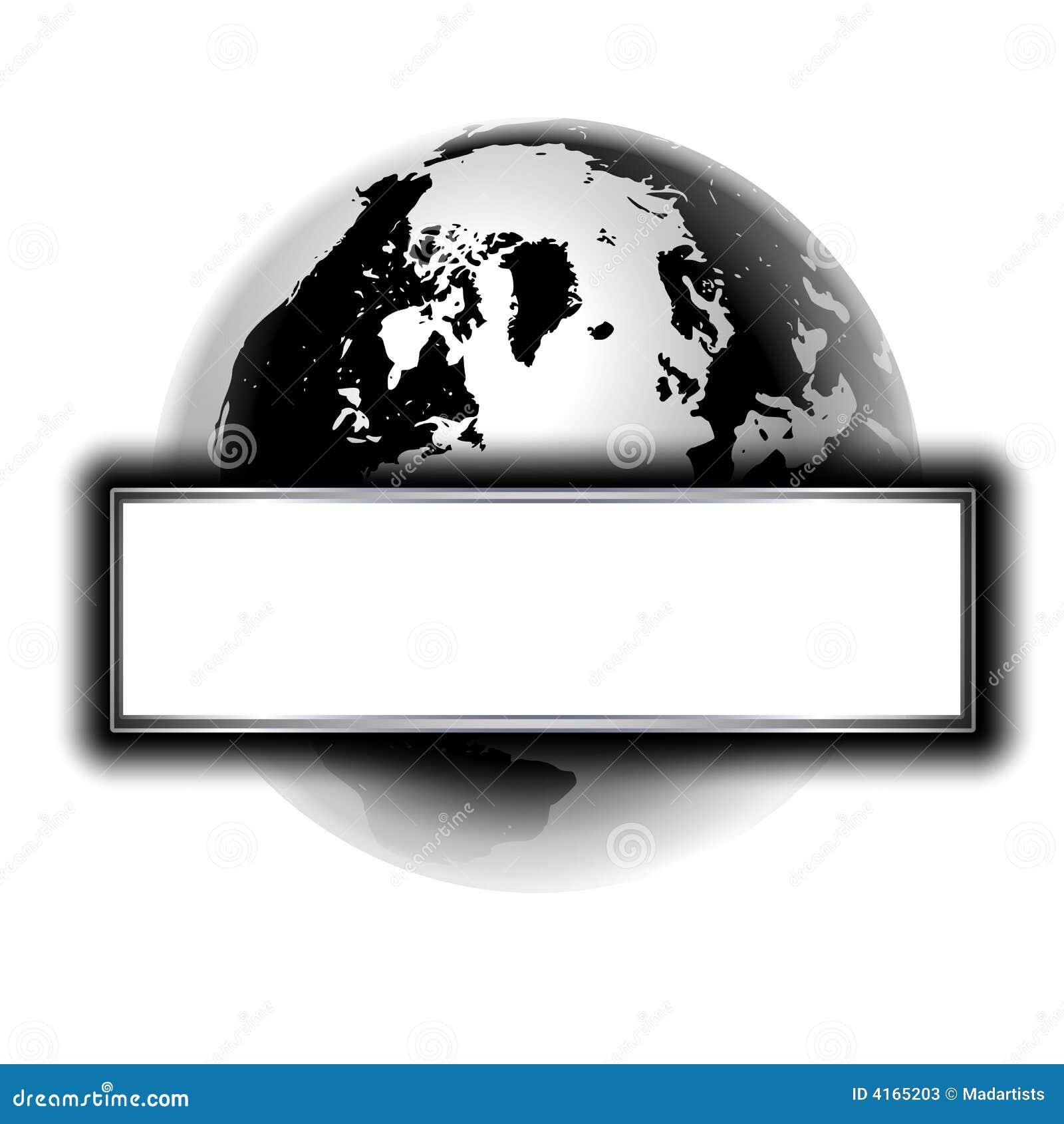 Silver Black Earth Logo Or Banner