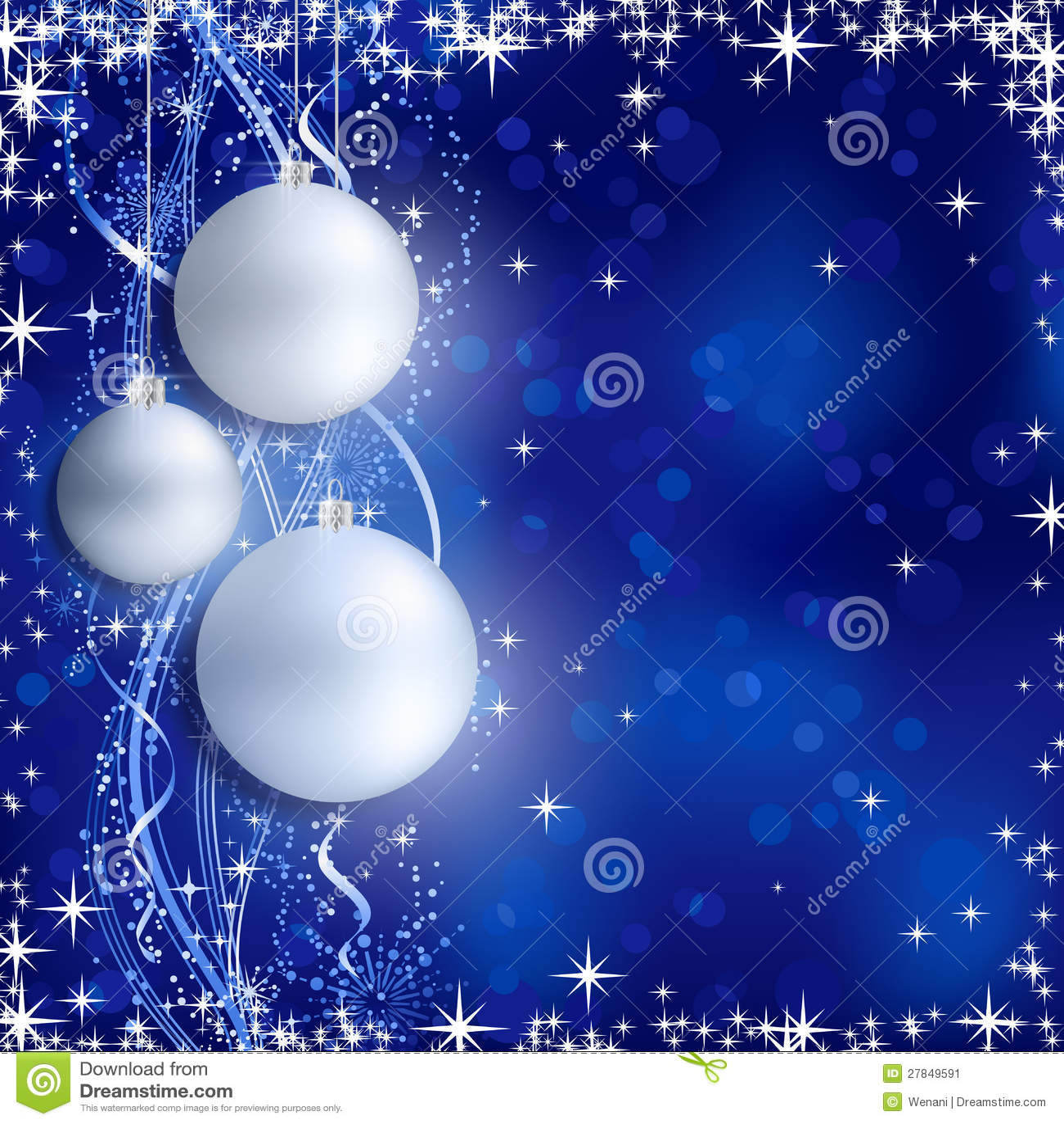 Silver Blue Christmas Background Stock Image - Image: 27849591