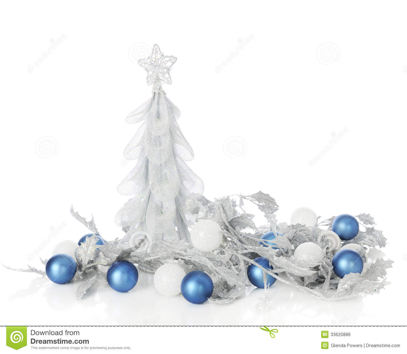 Silver Blue Christmas Royalty Free Stock Image Image