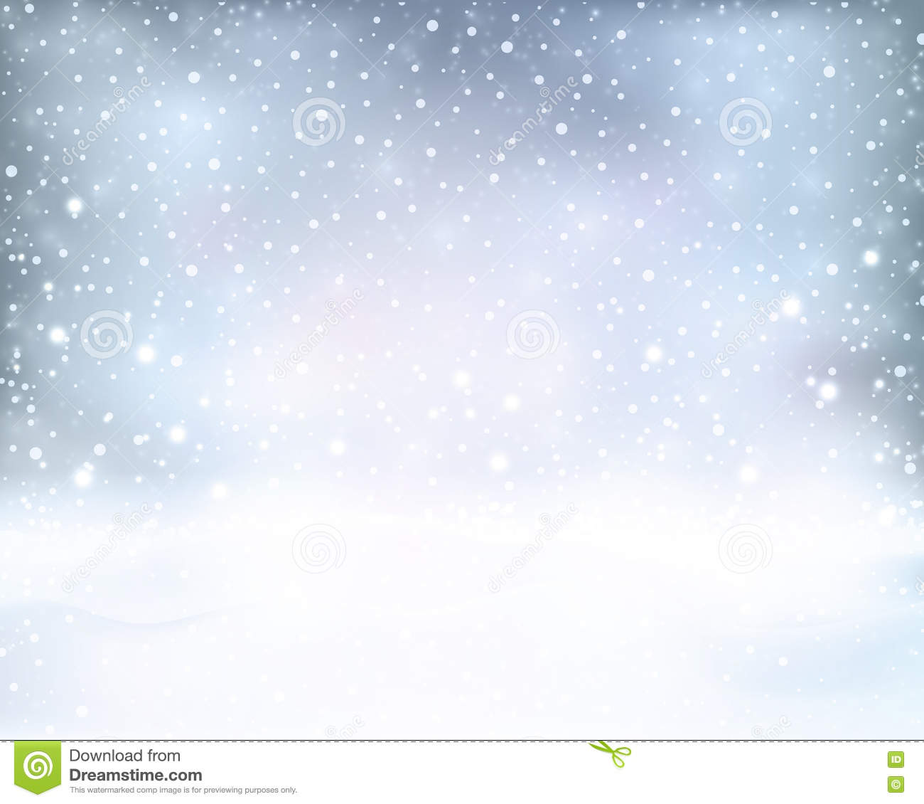 Silver Blue Winter, Christmas Background With Snowfall Stock ...