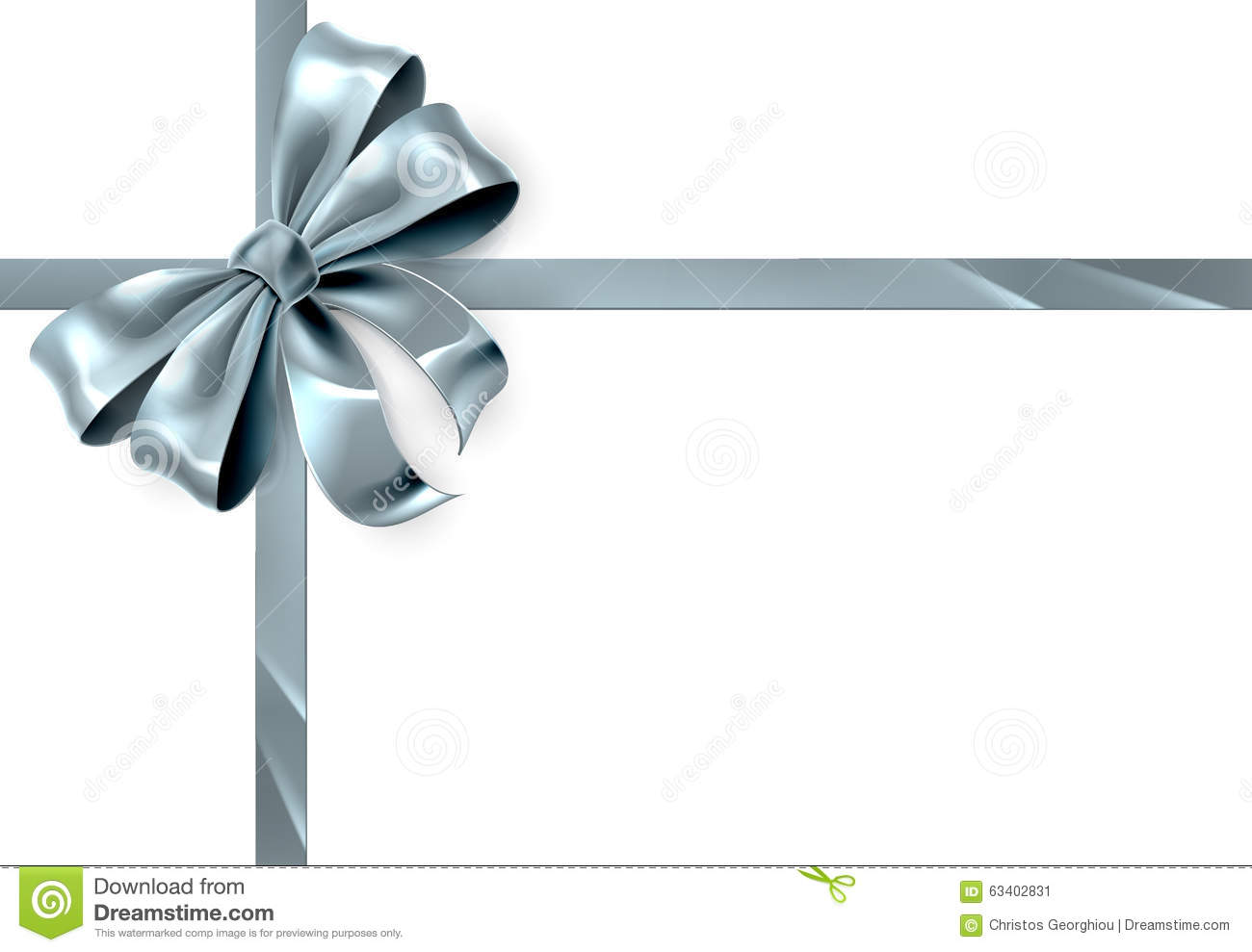 Blue And Silver Christmas Wrapping Paper