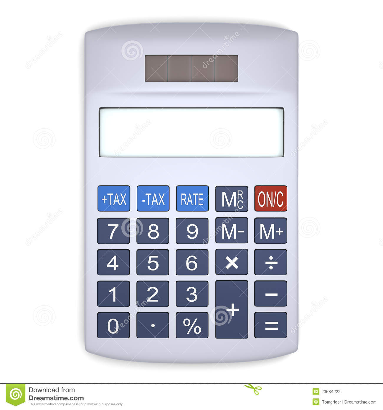 Silver Calculator Stock Photography Image 23584222