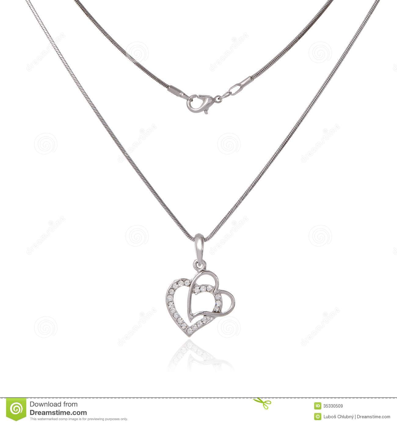 Silver chain and pendant stock image image of luxury 35330509 silver chain and pendant luxury beauty mozeypictures Choice Image