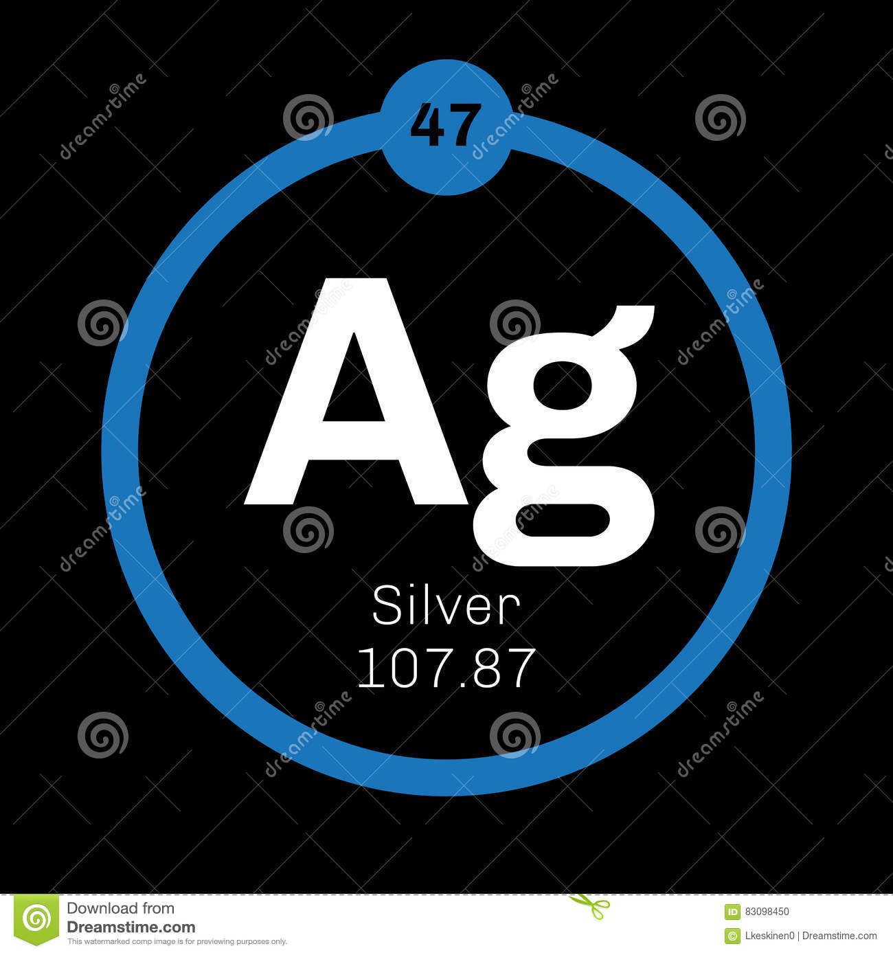 Element Silvers: Silver Chemical Element Stock Vector. Illustration Of
