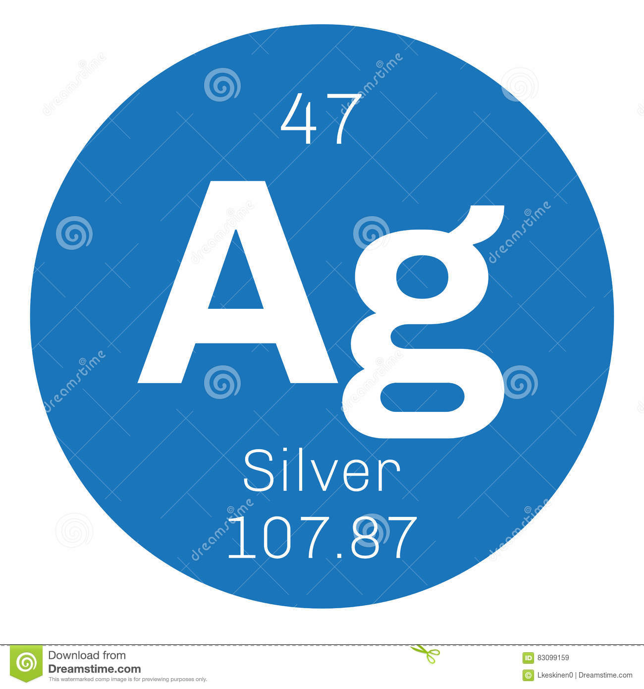 Silver chemical element stock vector illustration of icon 83099159 silver chemical element buycottarizona