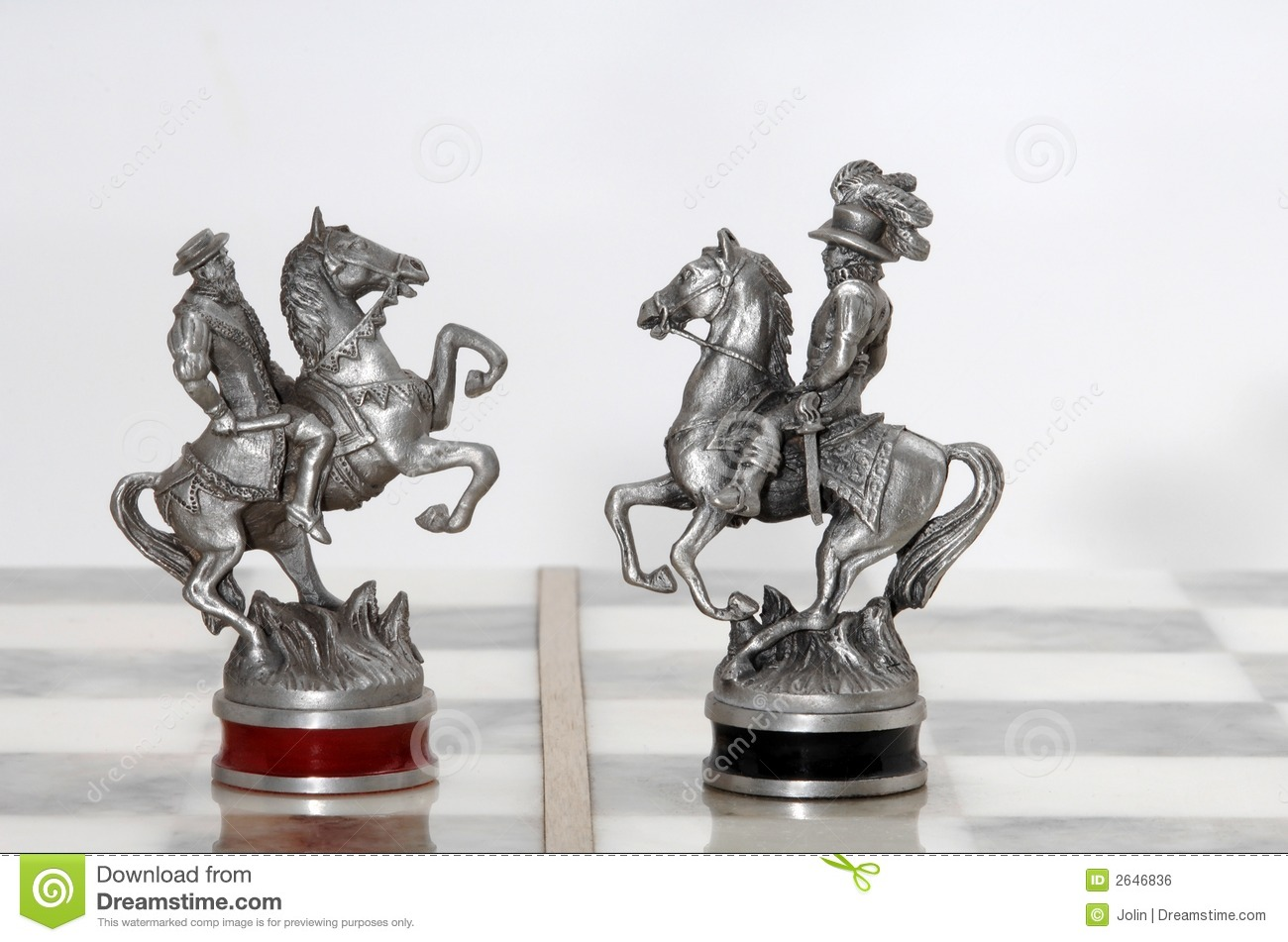 Silver chess figures royalty free stock image image 2646836 - Chess nice image ...