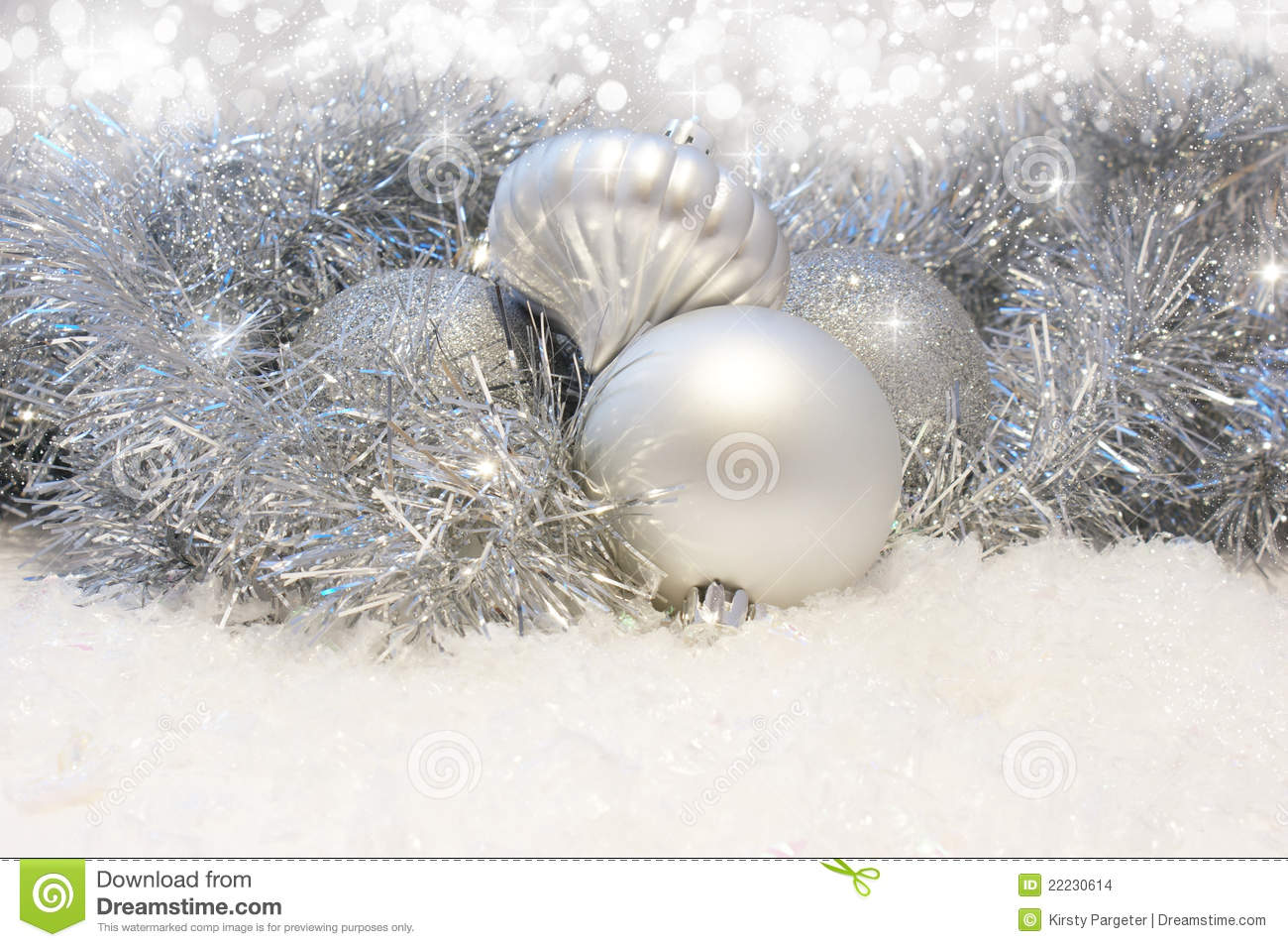 Silver Christmas Background Stock Images - Image: 22230614
