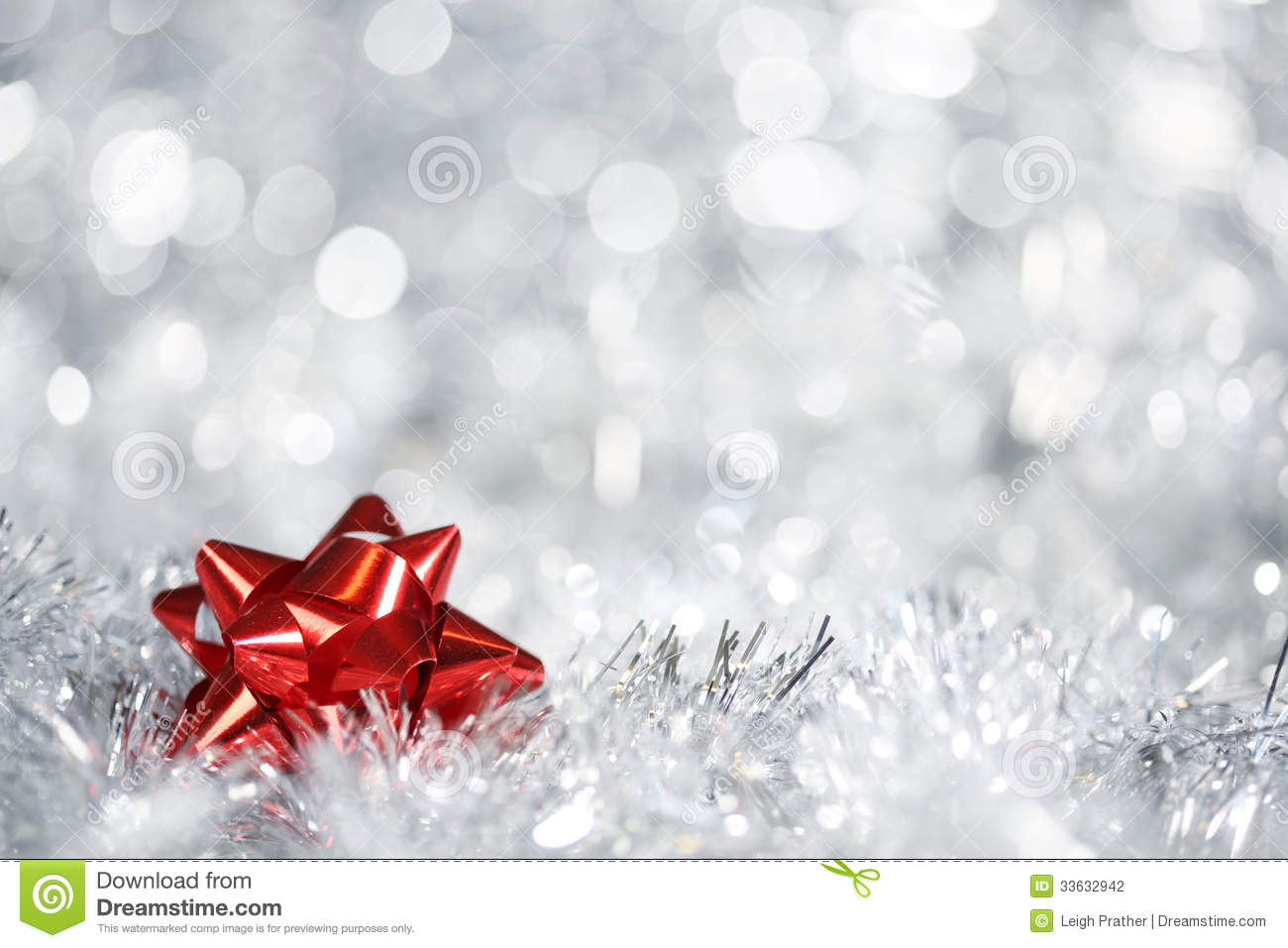 Silver Christmas Background Stock Photography Image