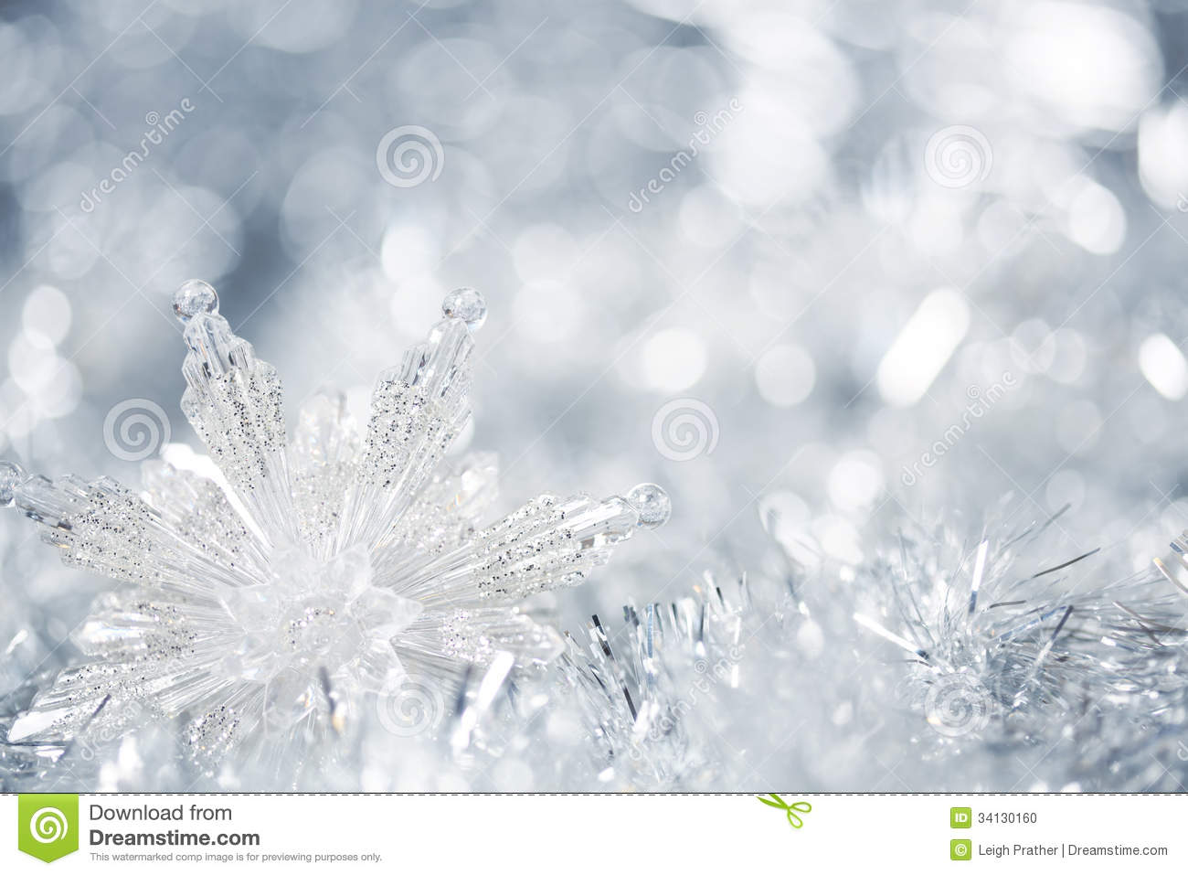 Silver Christmas Background Stock Photo - Image: 34130160